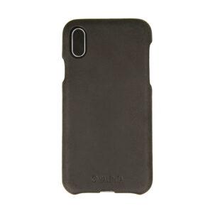 Valenta iPhone X, Xs læder bagcover sort