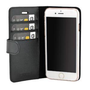 Valenta iPhone 6, 6s, 7, 8 læder Booklet cover sort