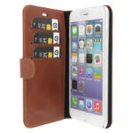 Valenta iPhone 5, 5s, SE læder Booklet cover brun
