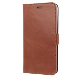 Valenta iPhone 5, 5s, SE læder Booklet cover brun