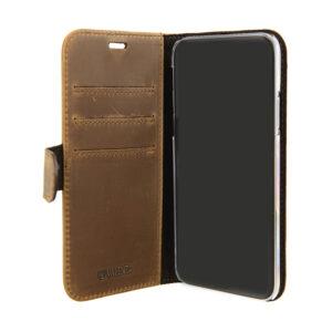 Valenta iPhone X, Xs læder Booklet cover vintage brun